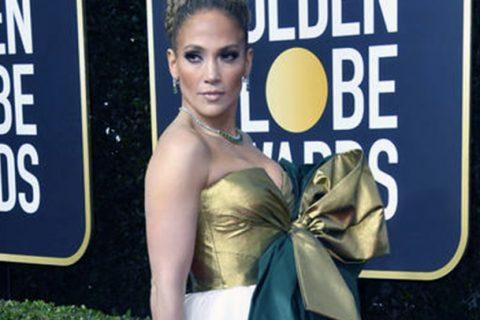 Jennifer Lopez y el look con el que deslumbró en los Golden Globes 2020