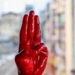 Los manifestantes birmanos se inspiran en 'Los juegos del hambre'